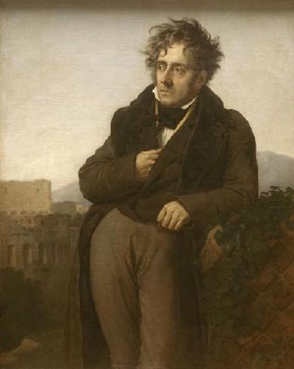 """François-Auguste-René de Chateaubriand (1768-1848) """" Un homme méditant sur lesruine"""""""