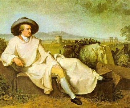 Johann-Wolfgang Goethe (1749-1832), poète et romancier allemand par Johann Heinrich Wilhelm Tischbein