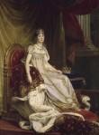 L'Impératrice Joséphine, impératrice des Français (1763-1814) en grand costume Impérial assise sur son trône par le baron François Pascal Simon Gérard